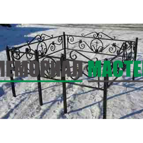 Ограда кованая с вензелем (h-40)
