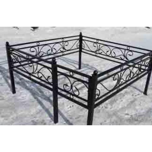 Кованая ограда «Кольца»