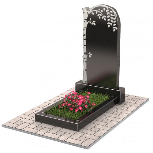 Памятник с березой П00208