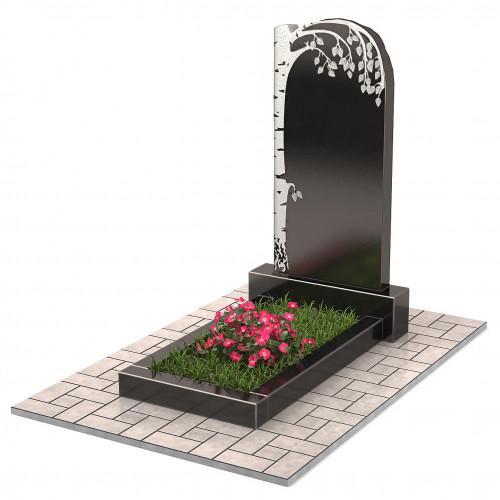 Памятник с березой П00209