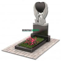 Памятник в виде лебедя с сердцем П00220