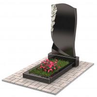 Памятник с розой П00225