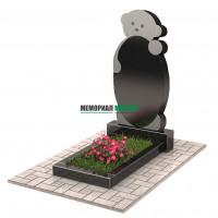 Памятник с мишкой П00232