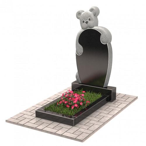 Памятник с мишкой П00236