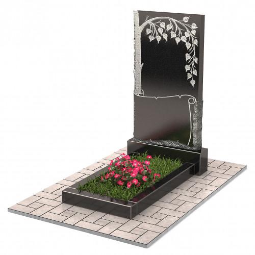Памятник с березой П00237