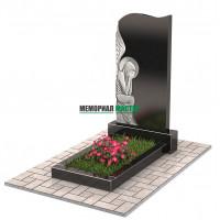 Памятник со скорбящим ангелом П00239
