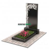 Памятник с березой П00241