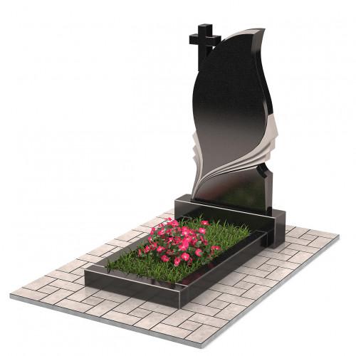 Памятник в виде свечи с крестом П00257