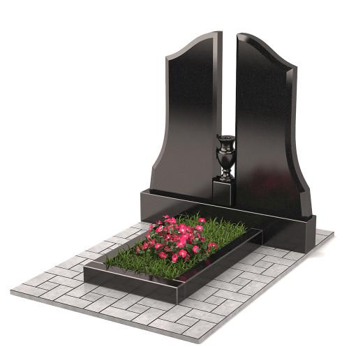 Памятник двойной с вазой П00297