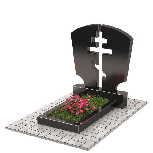 Памятник двойной с крестом П00303