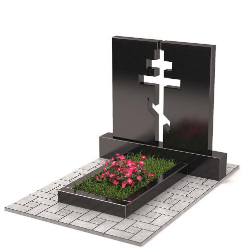 Памятник двойной с крестом П00304