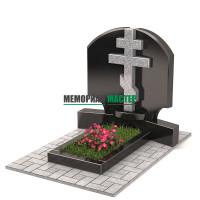 Памятник двойной с крестом П00312