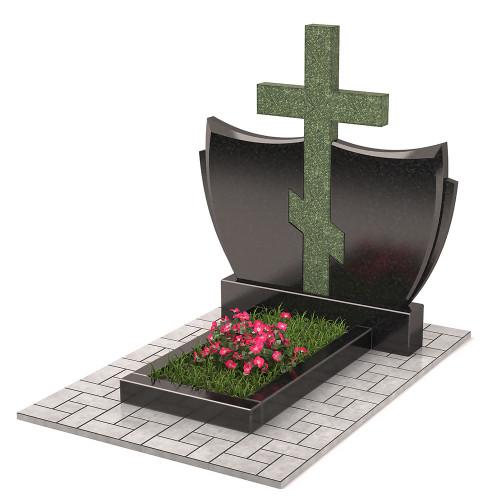 Памятник с крестом комбинированный П00329