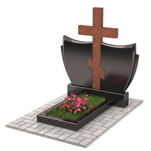 Памятник с крестом комбинированный П00330