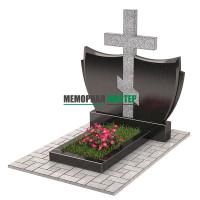 Памятник с крестом комбинированный П00331