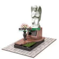 Памятник комбинированный с ангелом П00460