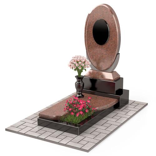 Памятник комбинированный овальный П00461