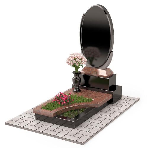 Памятник комбинированный овальный П00462