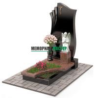 Памятник комбинированный с ангелом П00463
