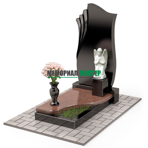Памятник комбинированный с ангелом П00464