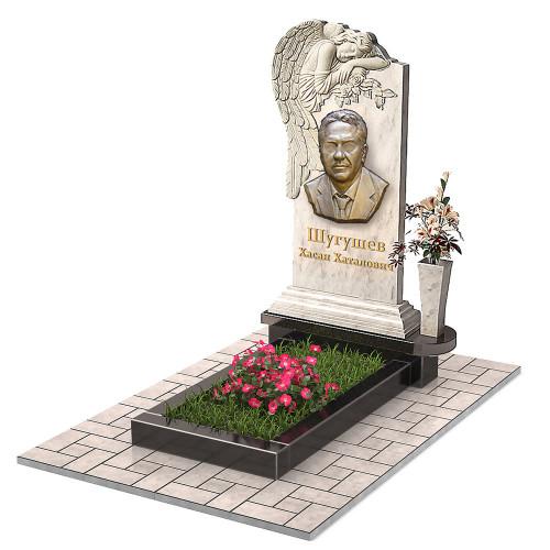 Памятник из мрамора с ангелом и вазой П00467