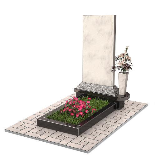Памятник из мрамора с вазой П00468