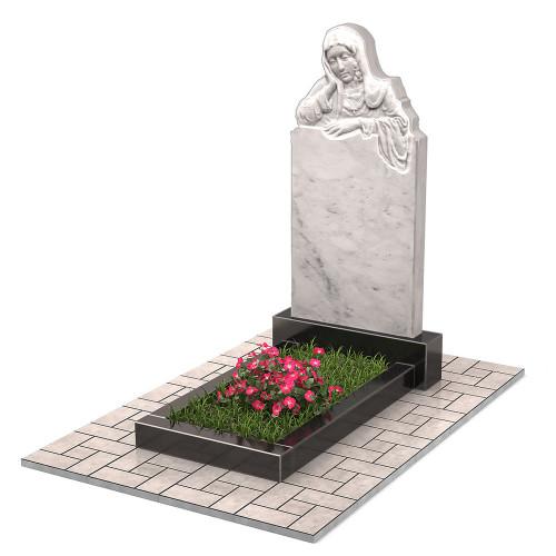 Памятник из мрамора со скорбящей женщиной П00469