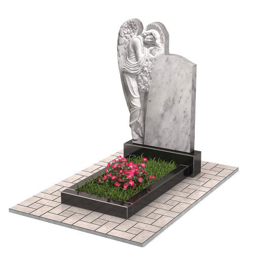 Памятник из мрамора с ангелом П00474