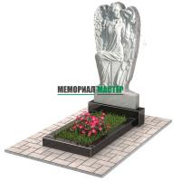 Памятник из мрамора в виде ангела П00477