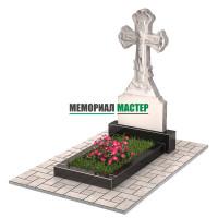Памятник из мрамора в виде креста П00478