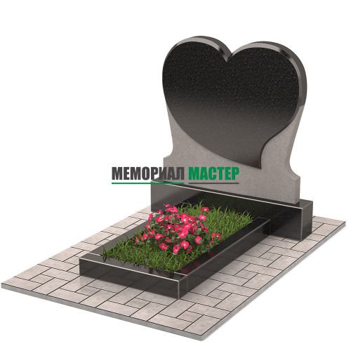 Памятник в виде сердца П00449