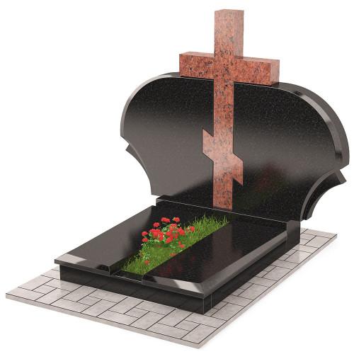 Памятник с крестом комбинированный П00450