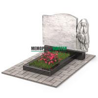 Памятник со скорбящей из мрамора П00510