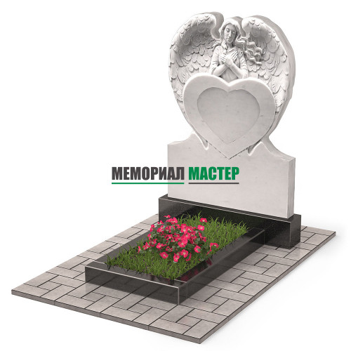 Памятник из мрамора с ангелом П00522