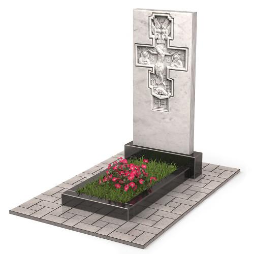 Памятник из мрамора с крестом П00524