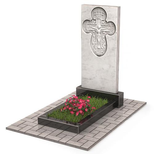 Памятник из мрамора с крестом П00526