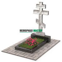 Памятник из мрамора в виде креста П00530