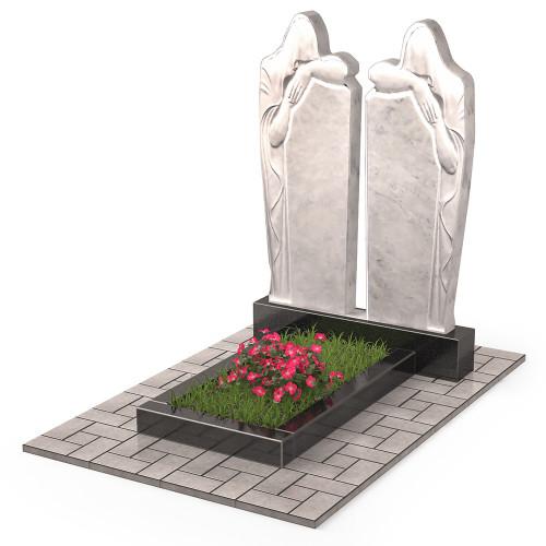 Памятник из мрамора двойной П00543