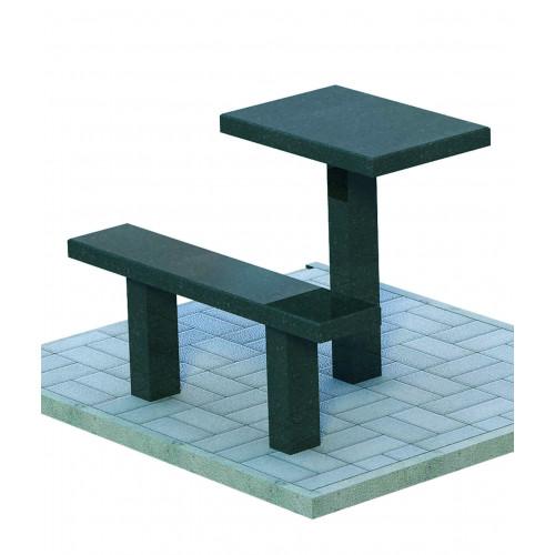 Прямые стол и лавка гранитные