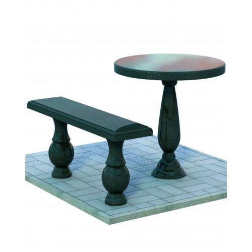 Гранитная лавка со столом