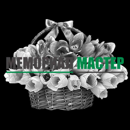 Корзина с тюльпанами ГР0022