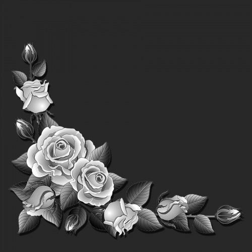 Виньетка розы ГР0074