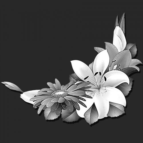 Виньетка цветы ГР0081