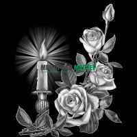 Цветы розы со свечой ГР0005