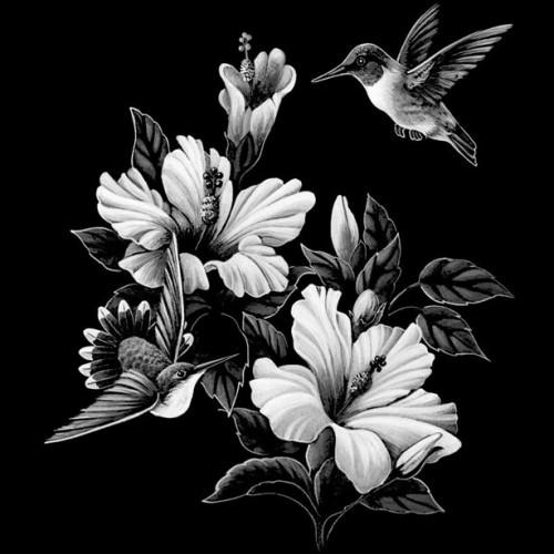 Райские цветы с птицами ГР0015