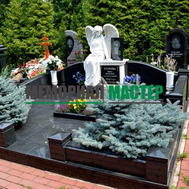 Ландшафтный дизайн могилы на кладбище